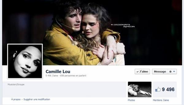 Nouvel habillage facebook sur la page de Camille