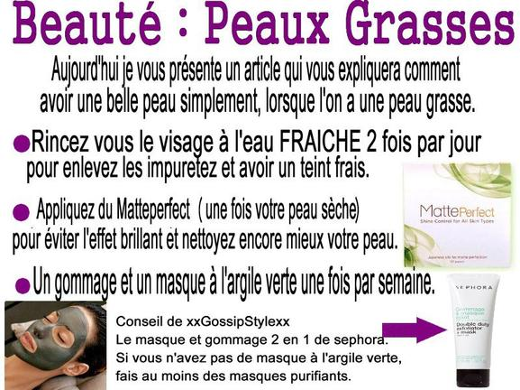 Conseil : Peaux sèches peaux grasses !