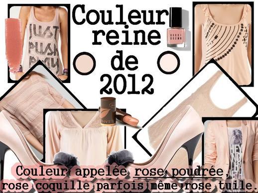 LA COULEUR DE 2012 =)