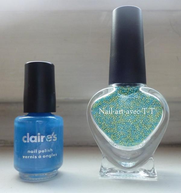 vernis bleu et caviar Claire's