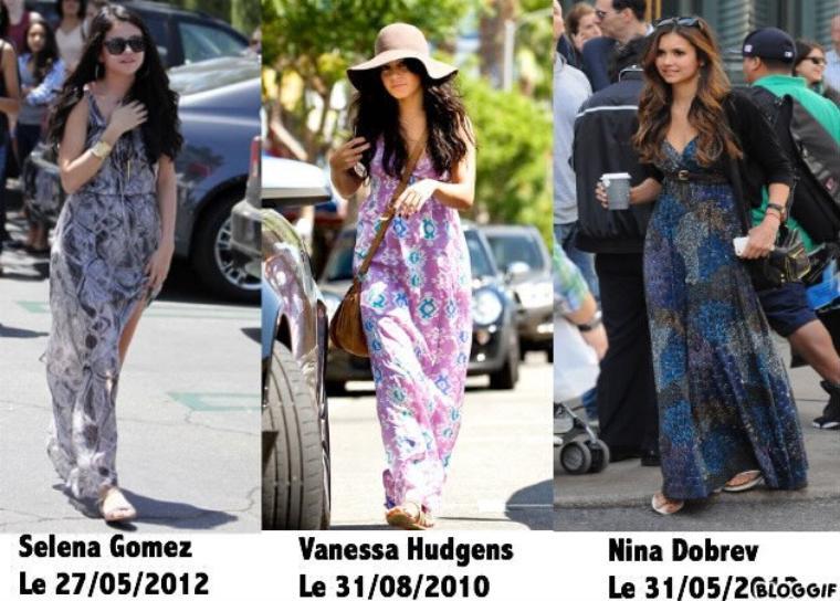 La maxi dress chez Selena Gomez, Vanessa Hudgens et Nina Dobrev