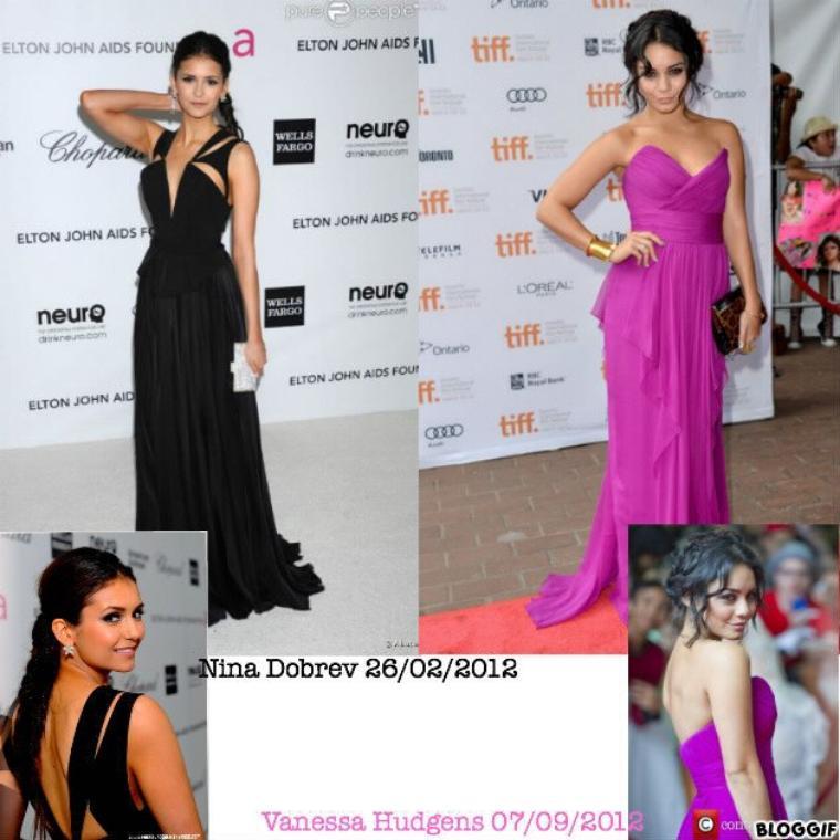 Robes de soirée Nina Dobrev et Vanessa Hudgens