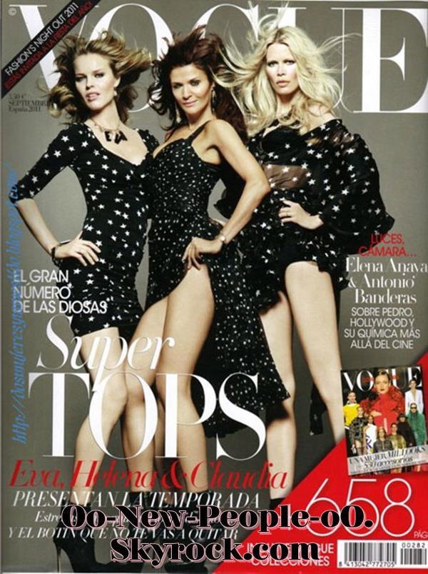 21.08.2011 - Couve : Claudia Schiffer, Eva Herzigova, Helena Christensen posent pour Vogue