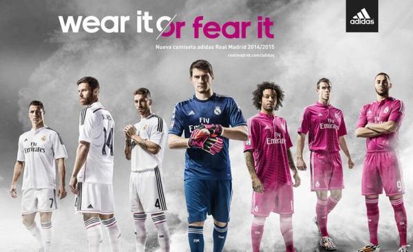Real Madrid: Les maillots officiel pour l'année 2014 - 2015