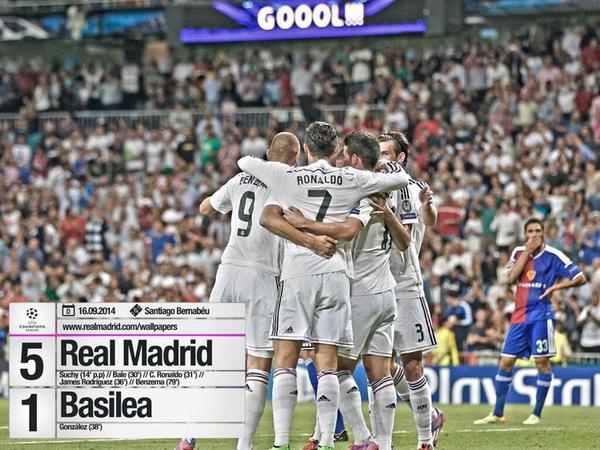 Score du match Real Madrid vs FC Basel