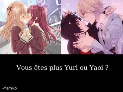 ✿ Yuri VS Yaoi ✿