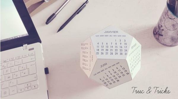 Un calendrier 3D