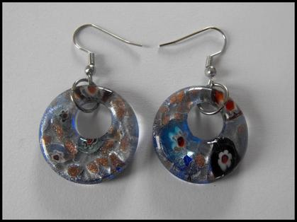 Boucles d'oreilles en verre de murano 2