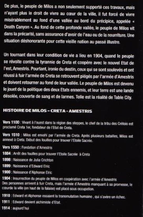 Fullmetal Alchemist: l'étoile sacrée de Milos - guide officiel du film (partie 2)
