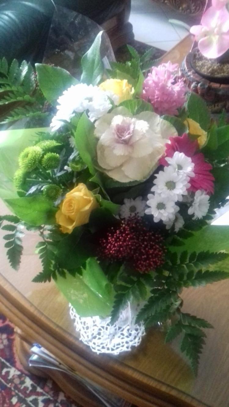joli bouquet offert pour la nouvelle annee 2017