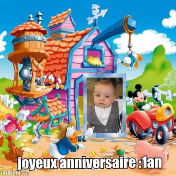 joyeux anniversaire a mon petit fils tony 1an aujourd hui