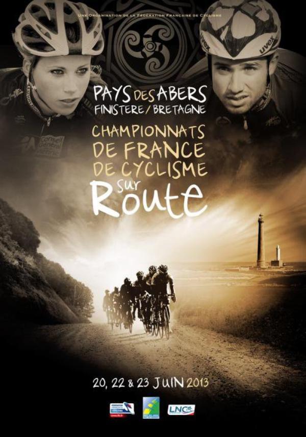 Affiche officielle Championnat de France de cyclisme sur route 2013