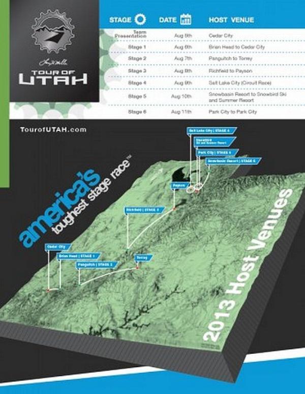 Tour de l'Utah 2013 (2.1) : présentation et parcours
