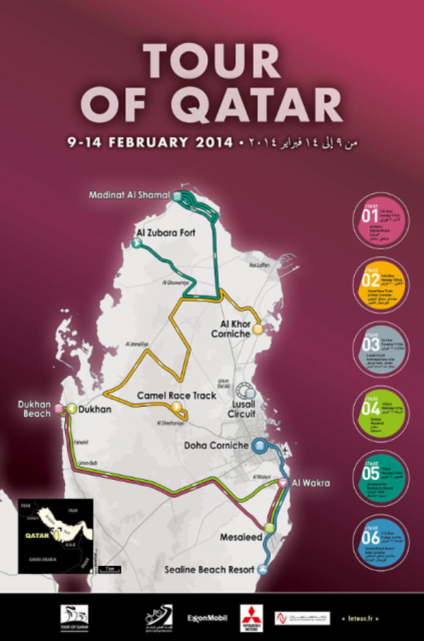 Affiche Officielle Tour du Qatar 2014