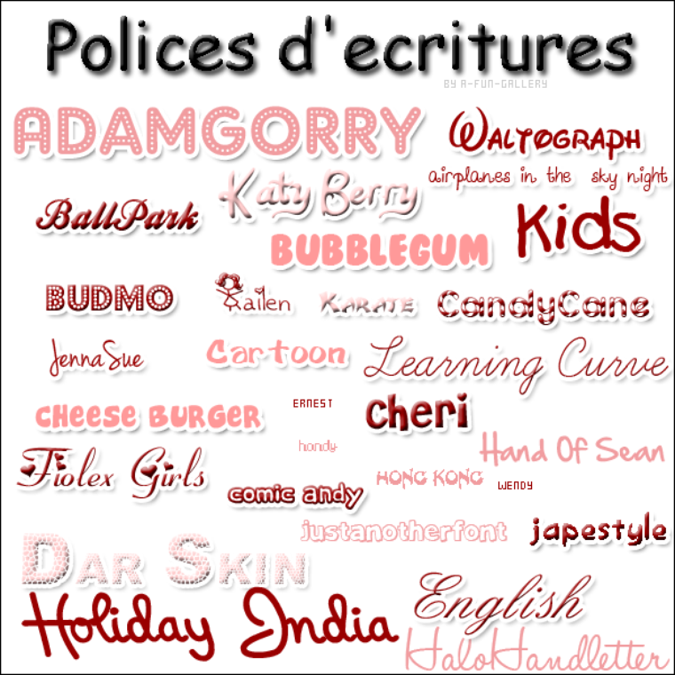 Le célèbre Tutoriel : Polices d'écriture. - Version No6 : Taylor Swift &PE_13