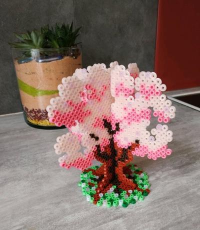 Sakura 3D en perles Hama 🌸🌳