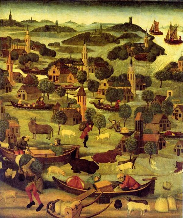 Grandes catastrophes Naturelles _ _ Inondation de la Sainte-Élisabeth en 1421