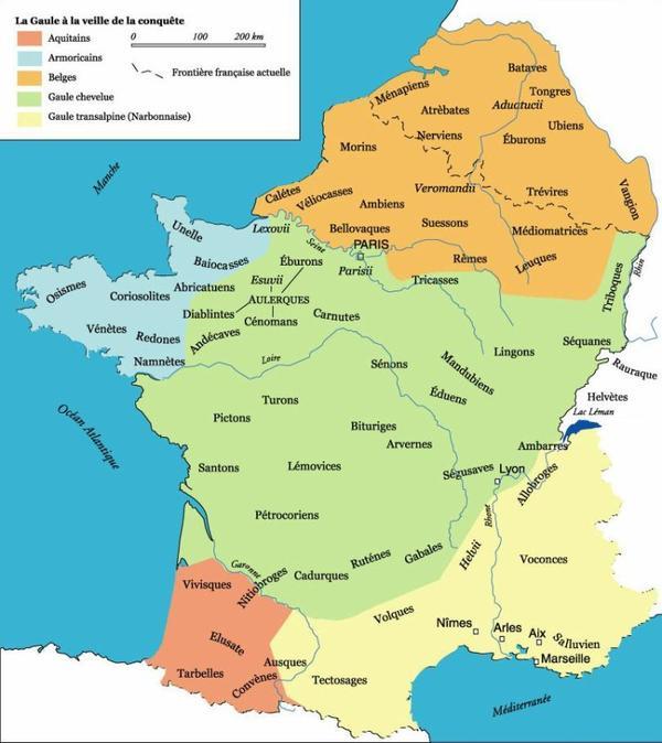 Carte de France Histoire _ _ La Gaule Celtique
