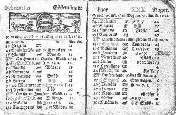 Il y a 300 ans, un certain 30 février…Publié le 29 février 2012 par Renan