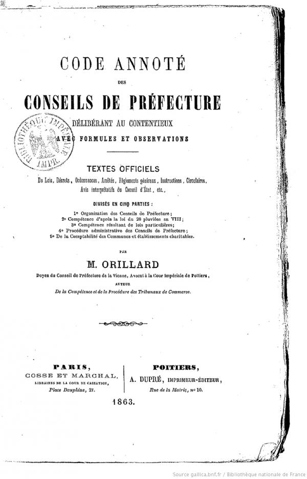 Conseil de préfecture