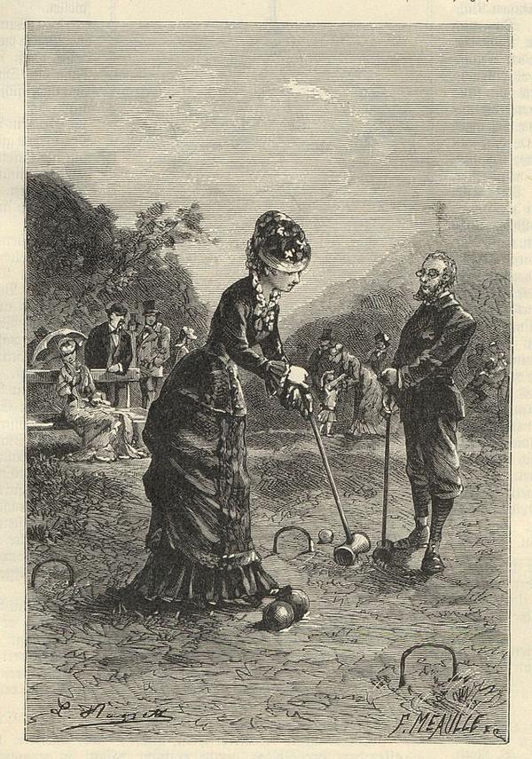 Partie de croquet en 1889