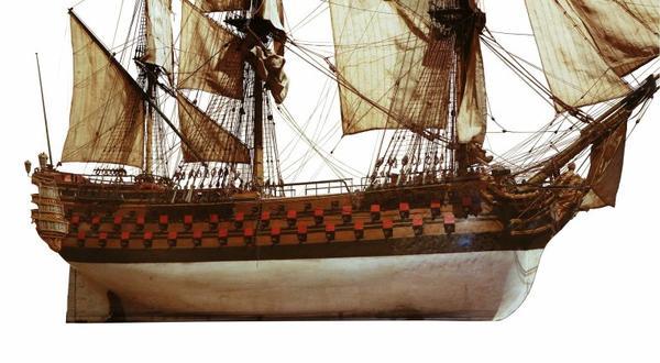 Navires d'autrefois _ _ Navire de guerre du temps de la marine à voile