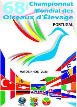 68° CAMPIONATO MONDIALE 2020 - Matosinhos (PORTOGALLO)