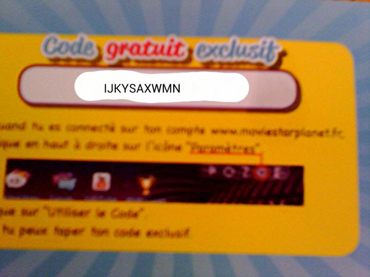 code carte cadeau msp la carte code moviestarpla  l'actu de moviestarplanet