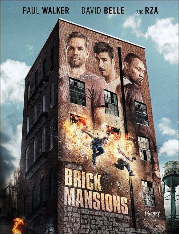 """Découvre le trailer et l'affiche du dernier film de Paul Walker :""""Brick Mansions"""" ."""