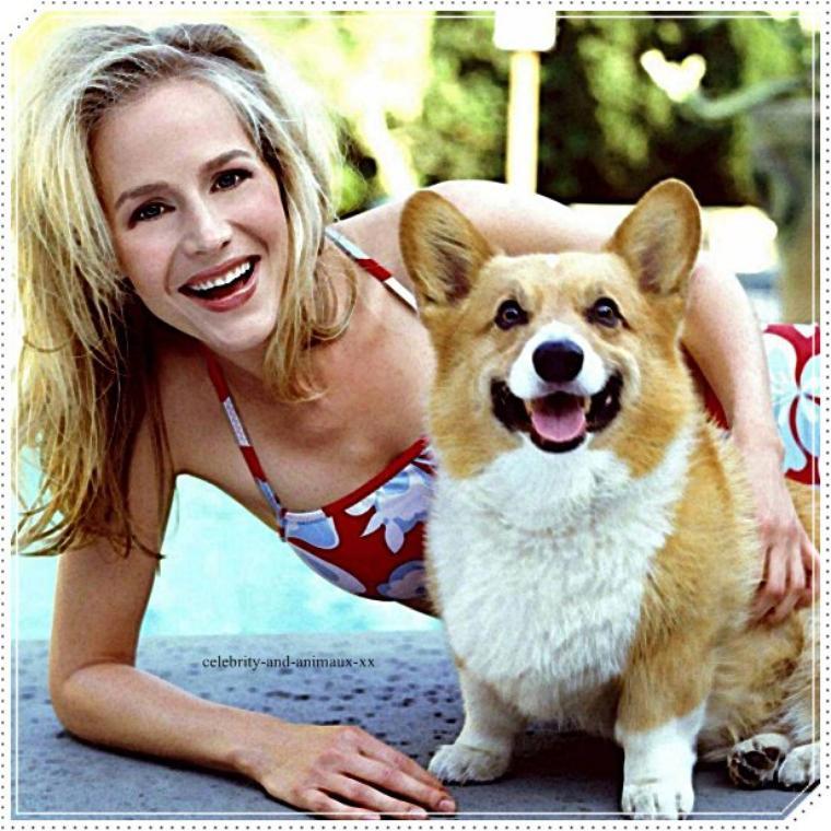 Julie Benz et son chien