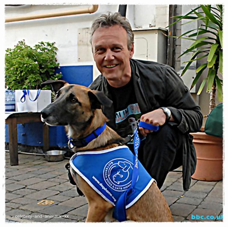 Anthony Head et son chien
