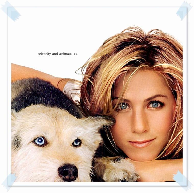 Jennifer Aniston et son chien