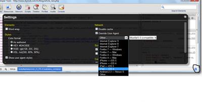 User-Agent Switcher for Chrome 17 (une bonne nouvelle pour les développeurs)