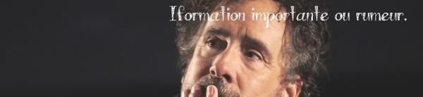 Actualité || 2013/2015 || Beetlejuice 2 || Pinocchio || Exposition à la cinémathèque de Paris