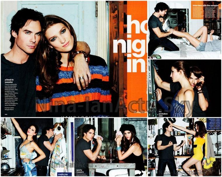Ian pour le magasine Glamour d'Avril 2012