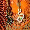 """Colliers pate fimo, montés sur  une laine aspect """"corde"""" =)"""