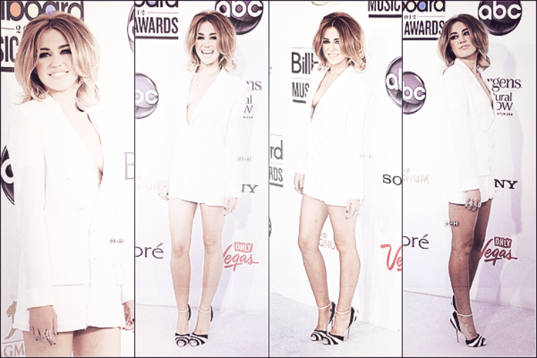 20/05/12 : Miley sur le tapis rouge du Billboard Music Awards à Las Vegas.