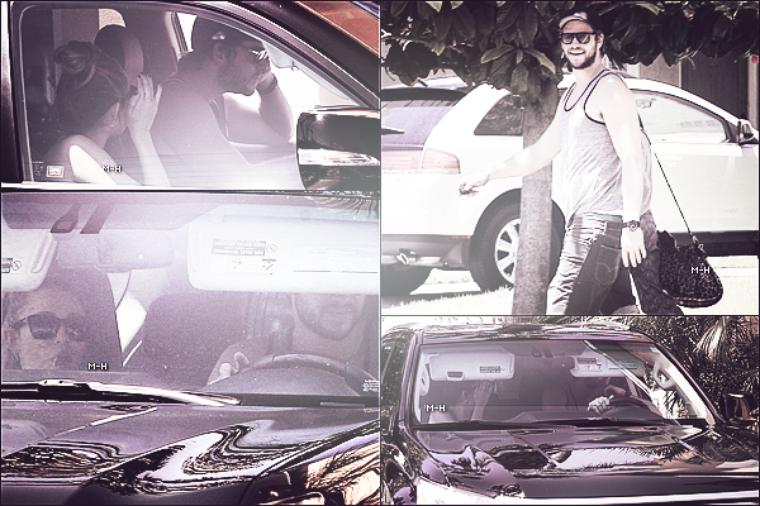 22/05/12 : Miley et Liam allant déjeuner dans un restaurant japonais à Studio City.