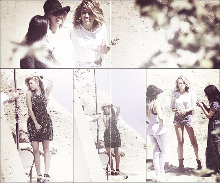 06/06/12 : Miley posant pour un photoshoot pour Marie Claire à Malibu.
