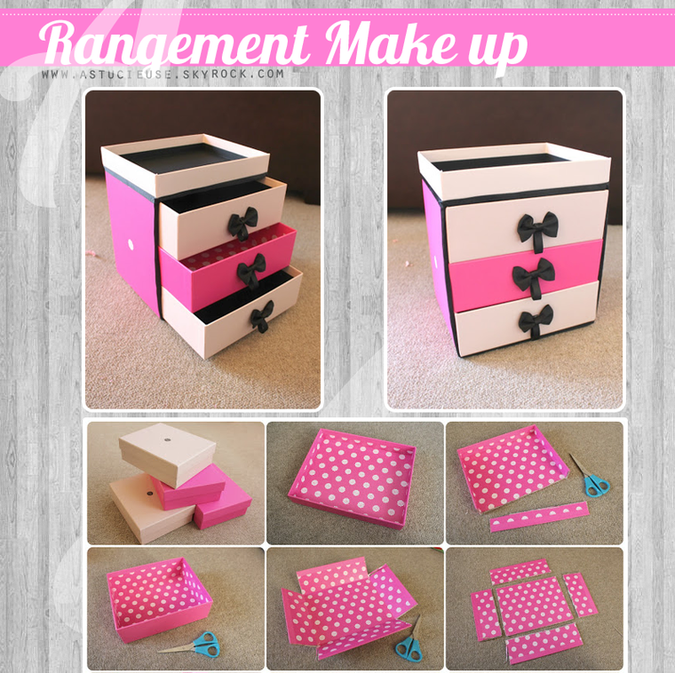 bricolage comment faire un rangement de make up. Black Bedroom Furniture Sets. Home Design Ideas