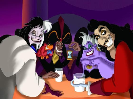 Méchants et méchantes chez Disney.