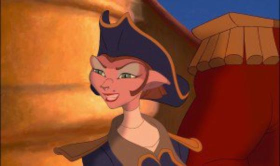 personnage dans « La Planète au Trésor » : Capitaine Amelia