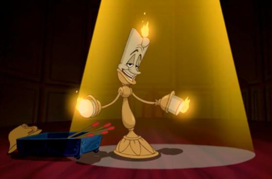 personnage dans « La Belle et la Bête » : Lumière