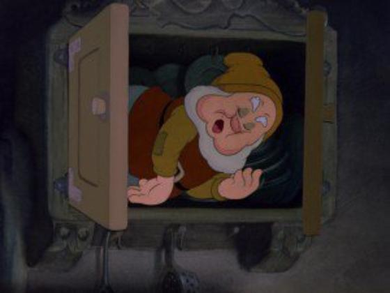 """personnage dans """"Blanche-Neige et les Sept Nains."""" : Joyeux"""