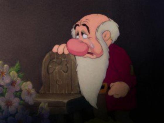 """personnage dans """"Blanche-Neige et les Sept Nains."""" : Grincheux"""