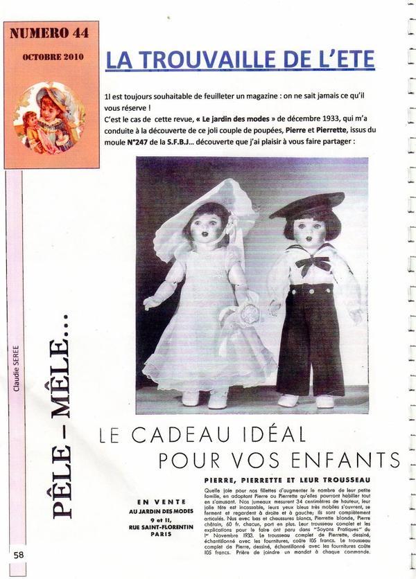 pour les amateurs de poupées de magazine , trouvé dans une revue