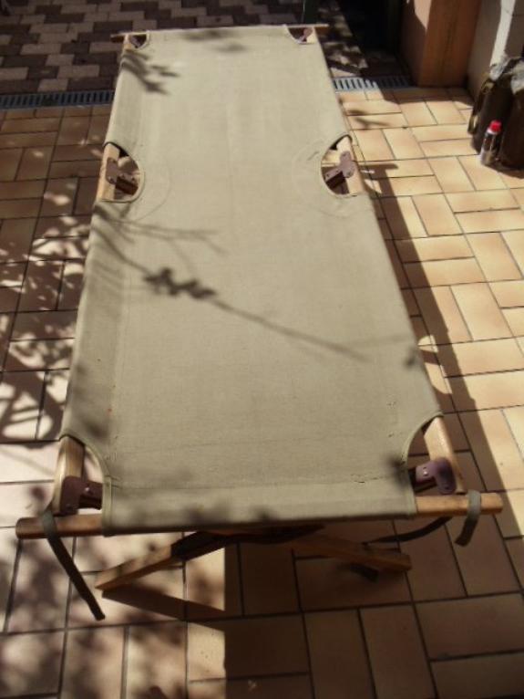 lit de camp us type lit picot structure bois militaria 57 ma collection. Black Bedroom Furniture Sets. Home Design Ideas