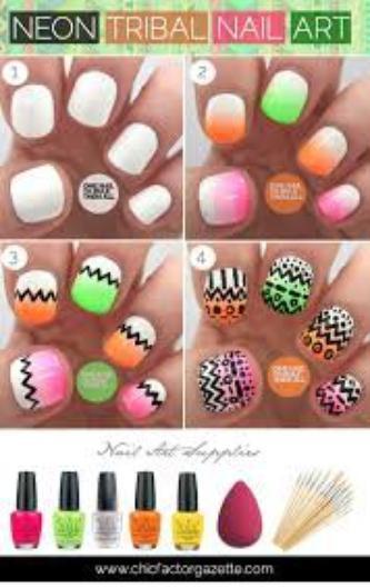nail art azteque !!!