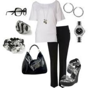 Tenue Black and White