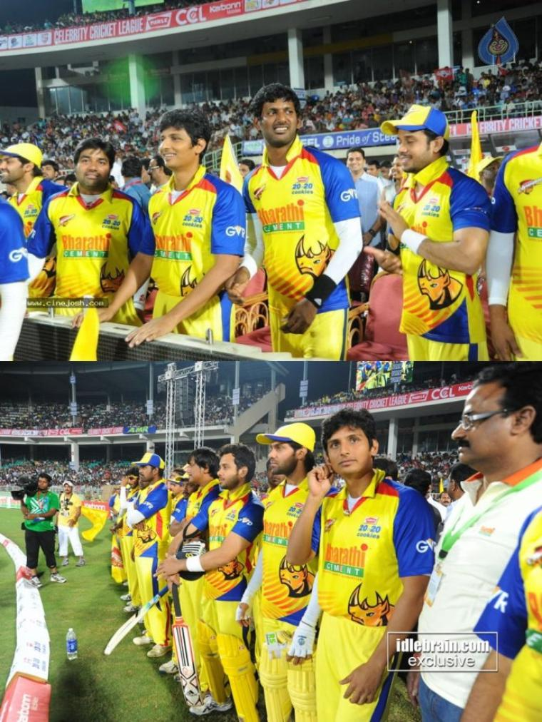 Chennai Rhinos Vs  Telugu Warrior Match Photos